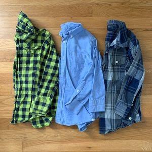 Gap & Crewcuts dress shirts, size 6-7